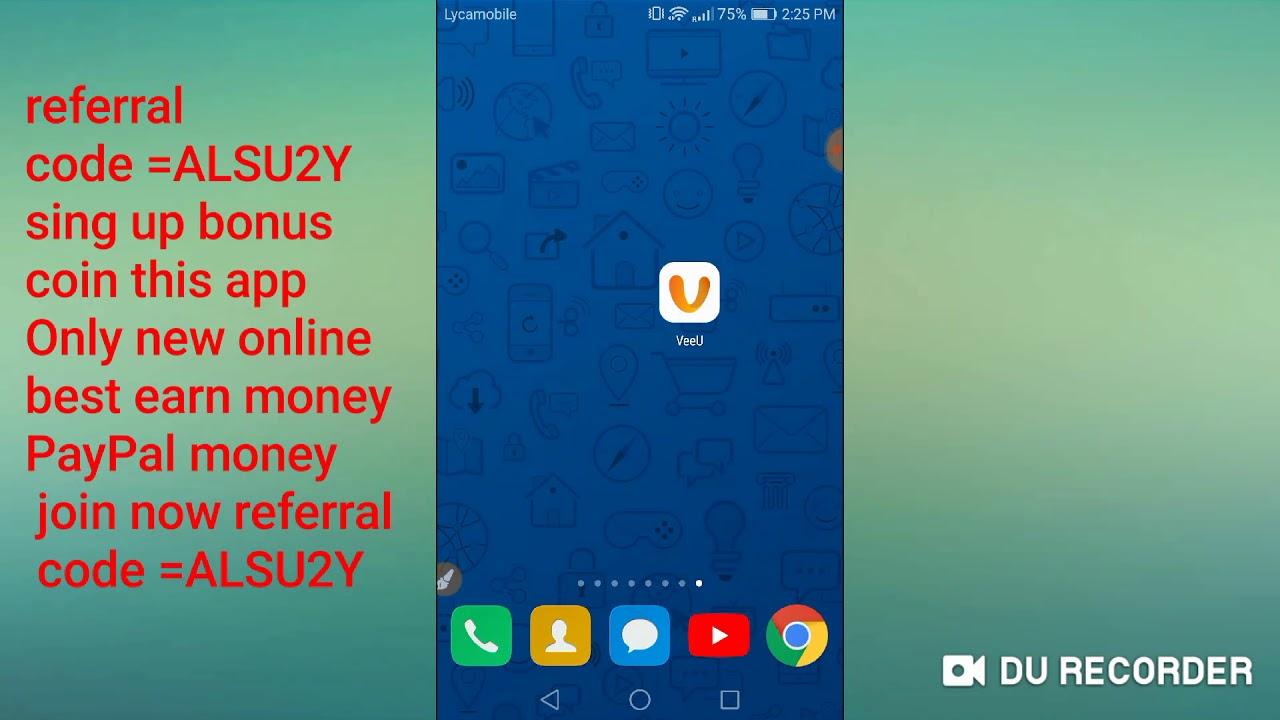 Veeu New Best Earn Money Real Online Payment Join Now Referral Code Alsu2y Sing Up Bonus Coin