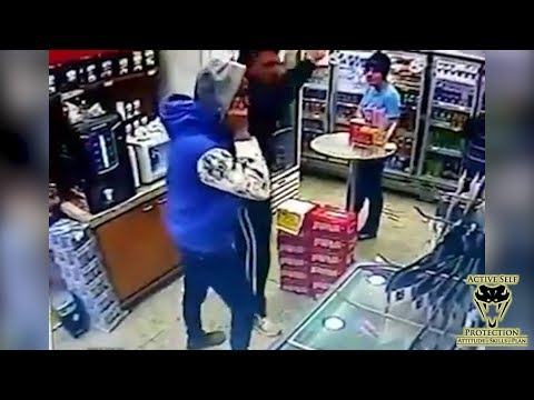 Robber Dropped by CCW Carrier  Active Self Protection