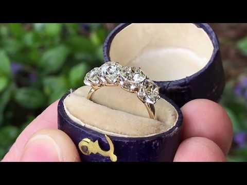 Antique 4-Stone Old European Cut Diamond Ring