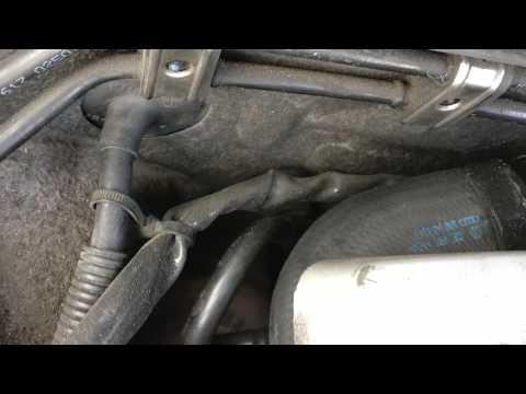 Loss of power in Audi A4 B6. Leak in intercooler pipe