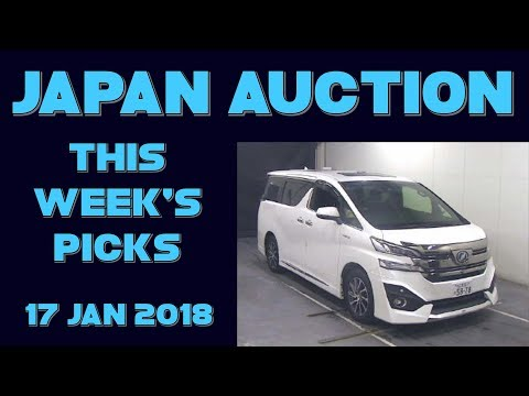 Japan Weekly Auction Picks 053 - 17 Jan 18