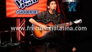 """La Voz Perú: Daniel Lazo les dedicó a sus fans """"Si no es contigo"""""""
