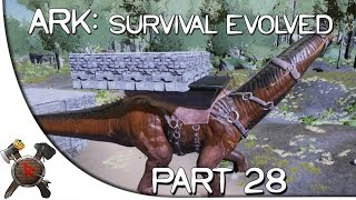 "Ark: Survival Evolved Gameplay - Part 28: ""CASTLE ON A BRONTO!"" (Season 2)"