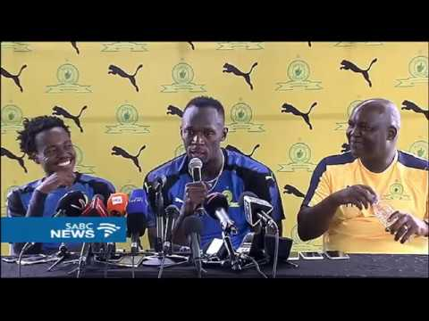 Usain Bolt Trains With SA's Soccer Team, Mamelodi Sundowns