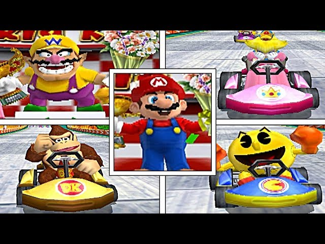 Mario Kart Arcade GP: All WINNING & LOSING Animations