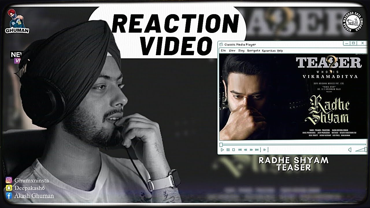 Download Reaction on Prabhas as Vikramaditya   Character Teaser   Radhe Shyam