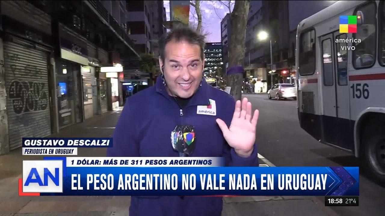 El peso argentino no vale nada en Uruguay