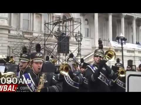 Baltimore Marching Ravens at the Super Bowl Parade