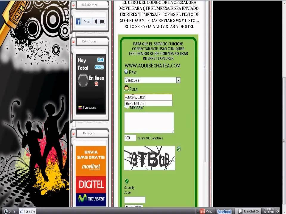 SMS GRATIS (Movilnet, Movistar, Digitel) por SOLARTUFM.COM - YouTube