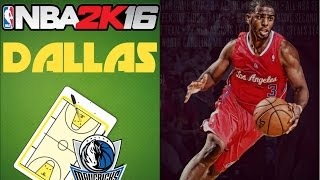 NBA 2K16 - DALLAS MAVS PLAYBOOK TEST - ONLINE RANKED MATCH - PLAY NOW