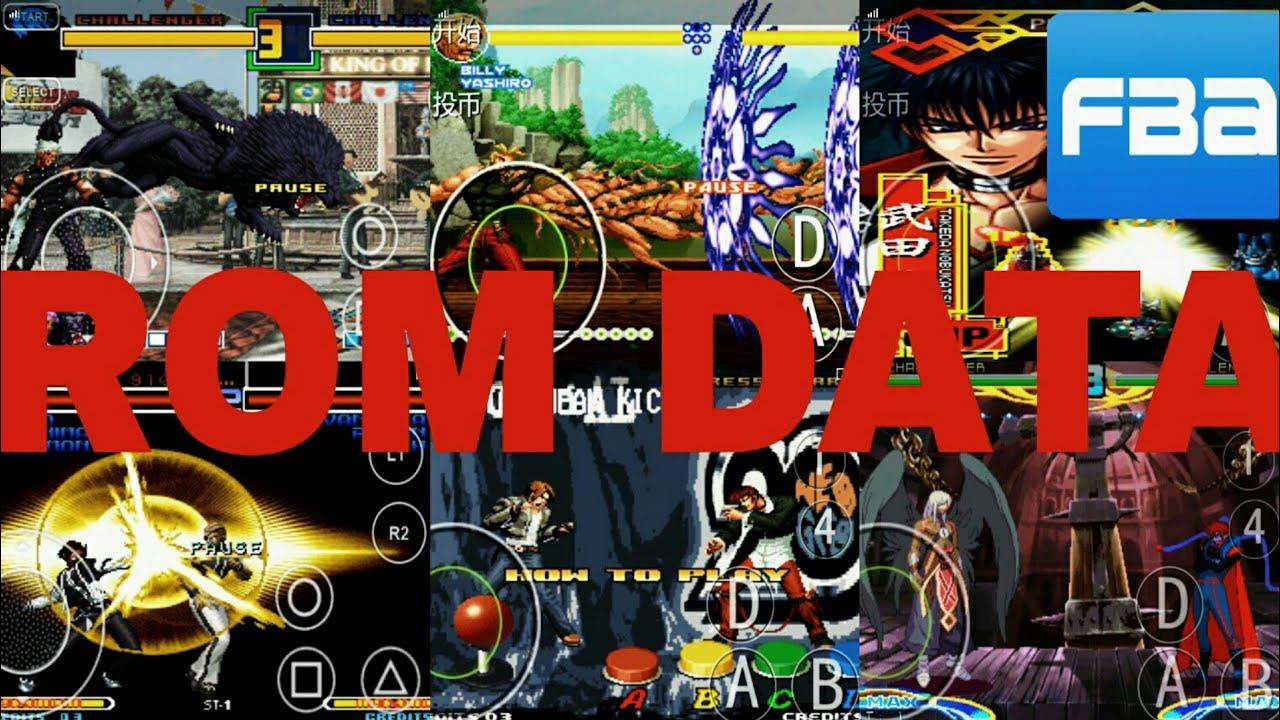 Como poner juegos con ROM data en el emulador fba4droid versión más actual  by ian Arcade