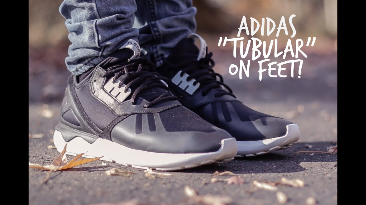 adidas tubular black white