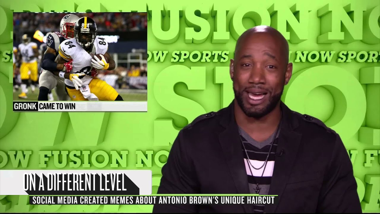 Does Antonio Browns New Haircut Look Like A Lego Youtube