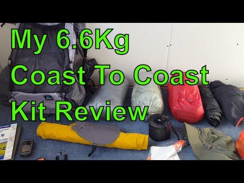 My 6.6Kg Lightweight Coast To Coast Walk - Kit Review