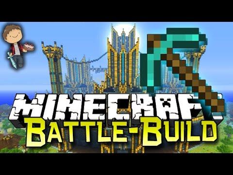 Minecraft: BATTLE BUILD #1 W/Bajan Canadian, MrWoofless, LogDotZip & PeteZahHutt!