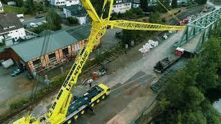DB Baustelle in Engelskirchen mit Liebherr LTM1450-8.1 - Ley Krane