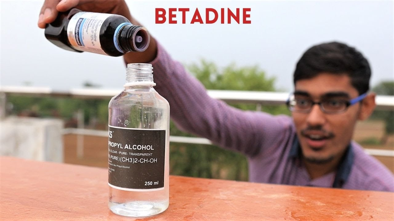 Download Betadine VS Alcohol | Awesome Chemical Reaction |