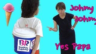 아이스크림 먹기!! 서은이의 베스킨 라빈스 아이스크림 먹기 콩순이 뽀로로 피카츄 폴리 Johny Johny Yes PaPa