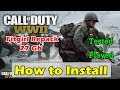 How to Install Call of Duty: WWII FitGirl Repack On PC