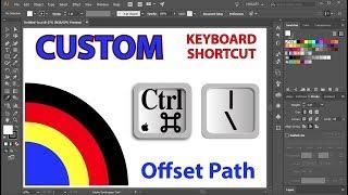 Zum Erstellen einer Benutzerdefinierten Tastenkombination für den Offset-Pfad-Funktion in Adobe Illustrator