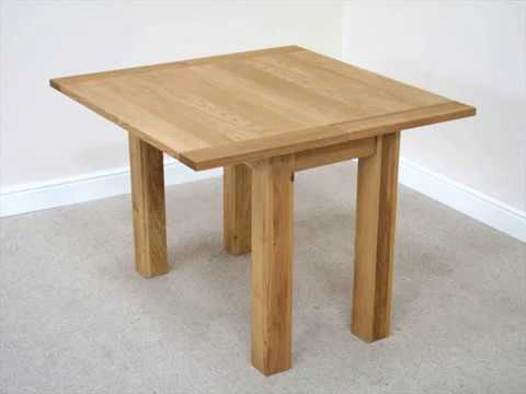 flip top dining table dark wood 1