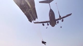 82nd Airborne Division Paratroopers Mass Tac Jump