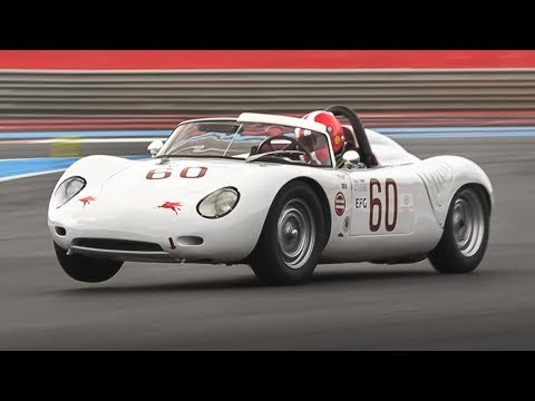 1960 Porsche 718 RS 60 Spyder In Action At Monza & Paul Ricard!