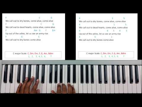 Come Alive (Dry Bones) - Piano Tutorial