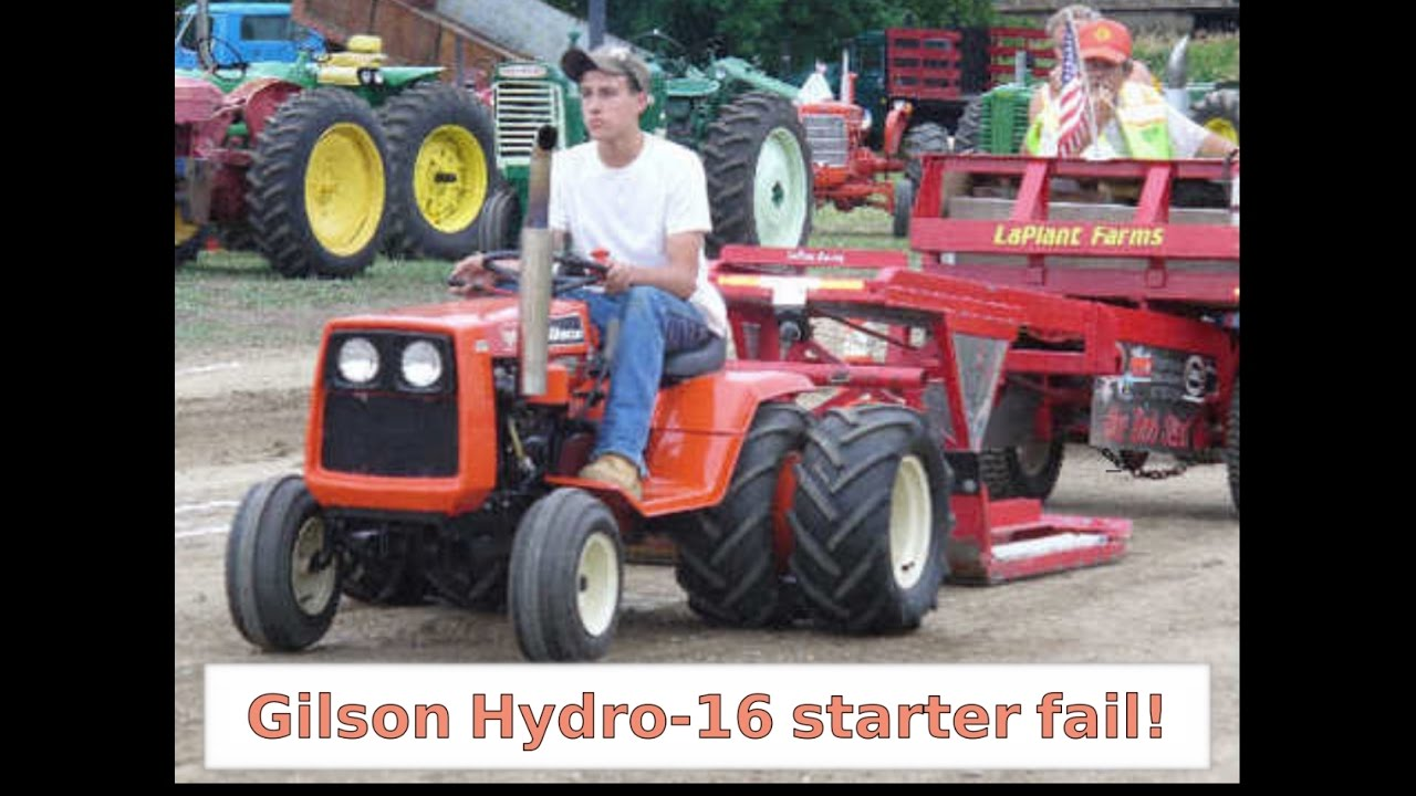 small resolution of 1975 gilson hydro 16 tractor starter fail