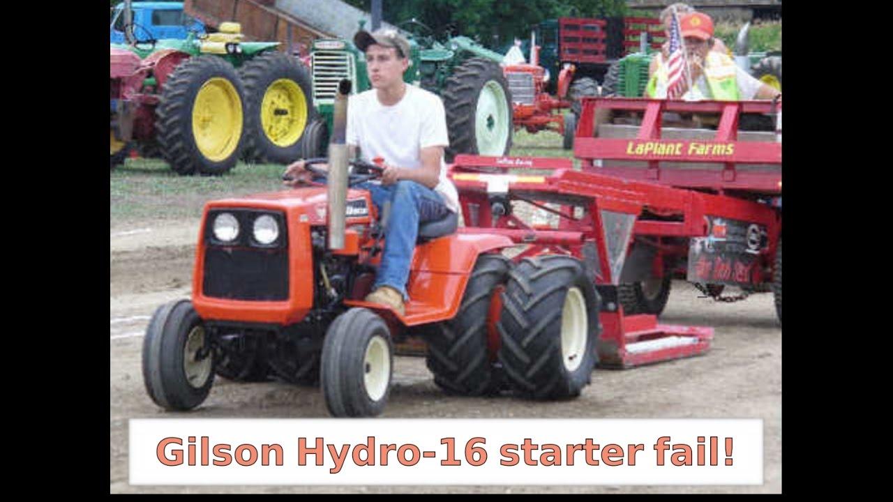 hight resolution of 1975 gilson hydro 16 tractor starter fail