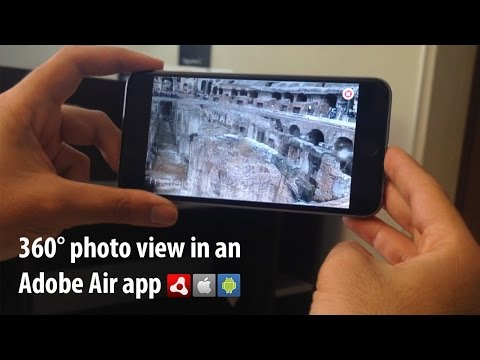 360° photo view in Adobe Air application using MyAR native extension