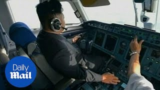 Kim Jong Un flies plane in North Korean TV documentary - Daily Mail