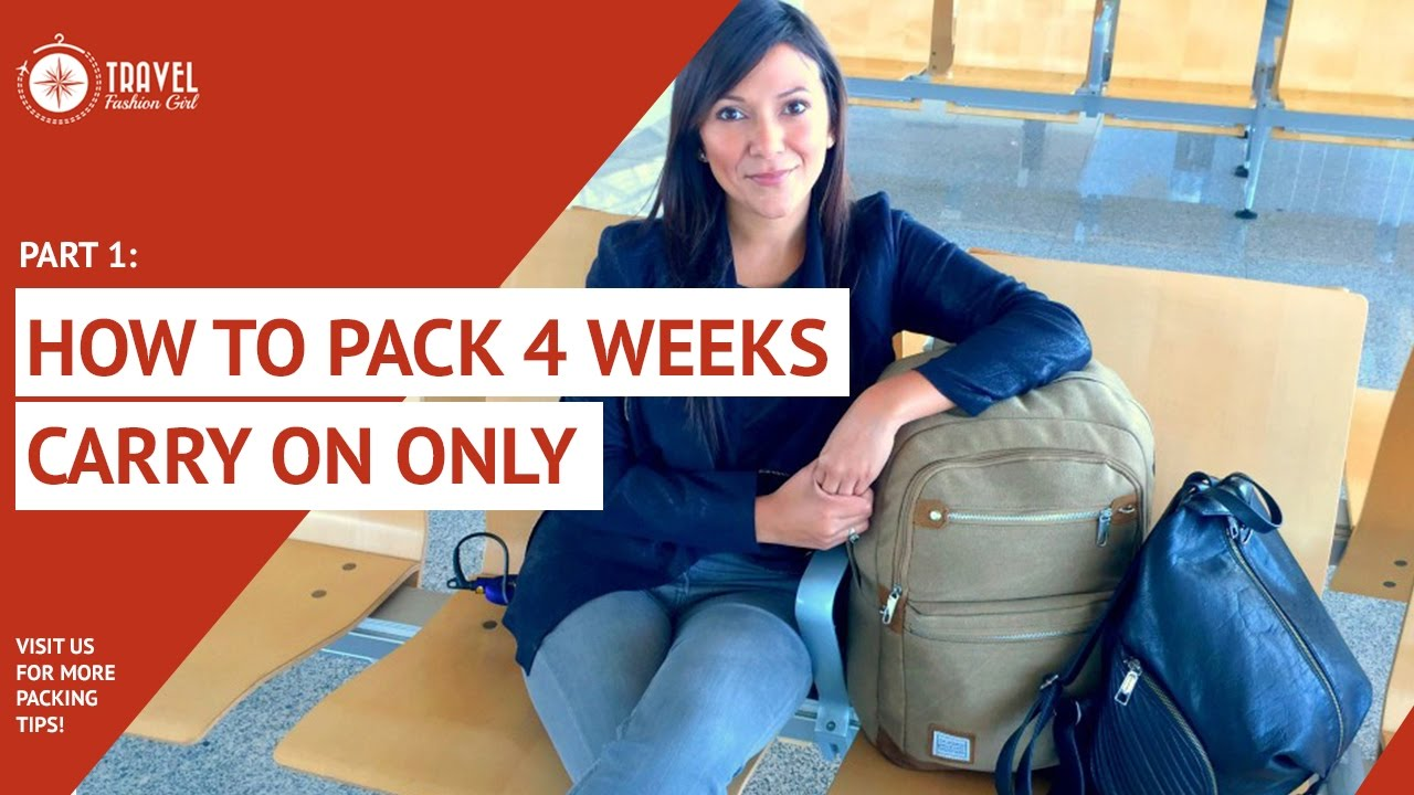 8e6b81f1b53a How to Pack 4 Week Carryon Only PART 1. Travel Fashion Girl