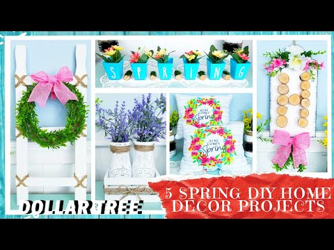 5 DOLLAR TREE SPRING DIY HOME DECOR CRAFTS| Five Awesome Quick & Easy Tutorials | Farmhouse Style