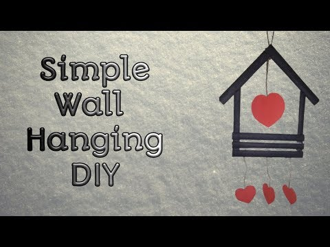 Simple Wall Hanging Craft Idea | Wall Decor | DIY | Trail N Error