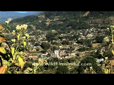 Yingkiong town in the Upper Siang District of Arunachal Pradesh