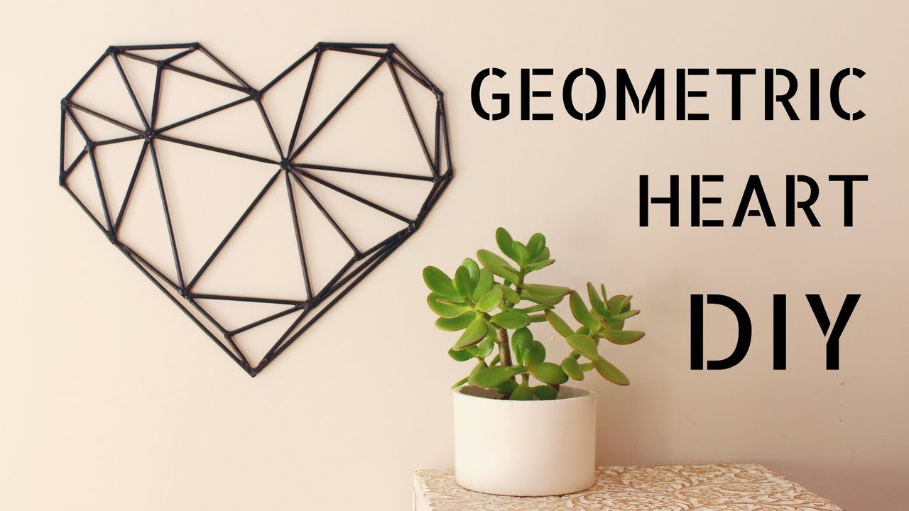 Diy Geometric Heart Wall Art Youtube