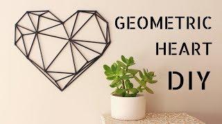 DIY - Geometric Heart [Wall Art]