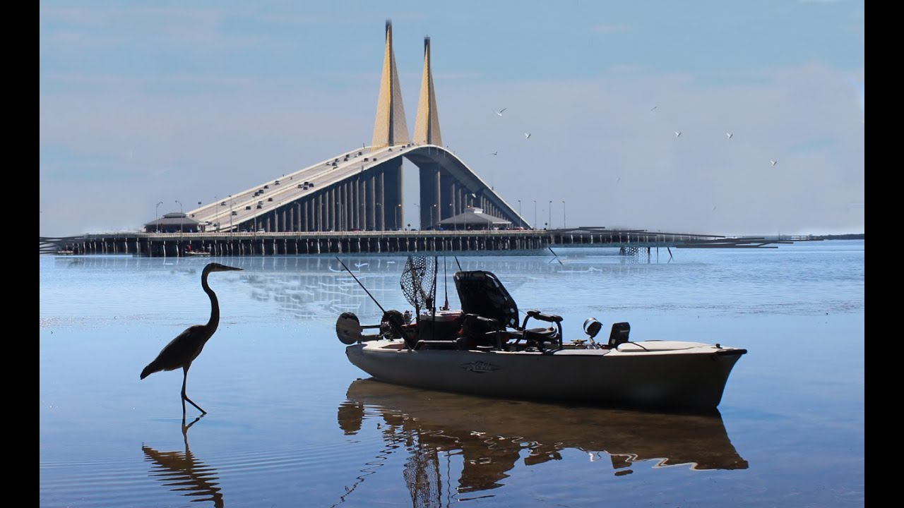 kayak fishing near the sunshine skyway bridge youtube