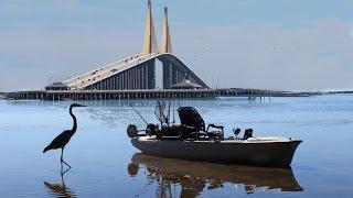 Kayak Fishing near the Sunshine Skyway Bridge