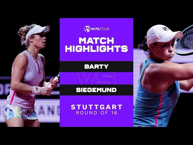 Ashleigh Barty vs. Laura Siegemund | 2021 Stuttgart Round of 16 | WTA Match Highlights