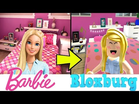 My New Barbie Dreamhouse House Tour In Bloxburg Titi Games Youtube