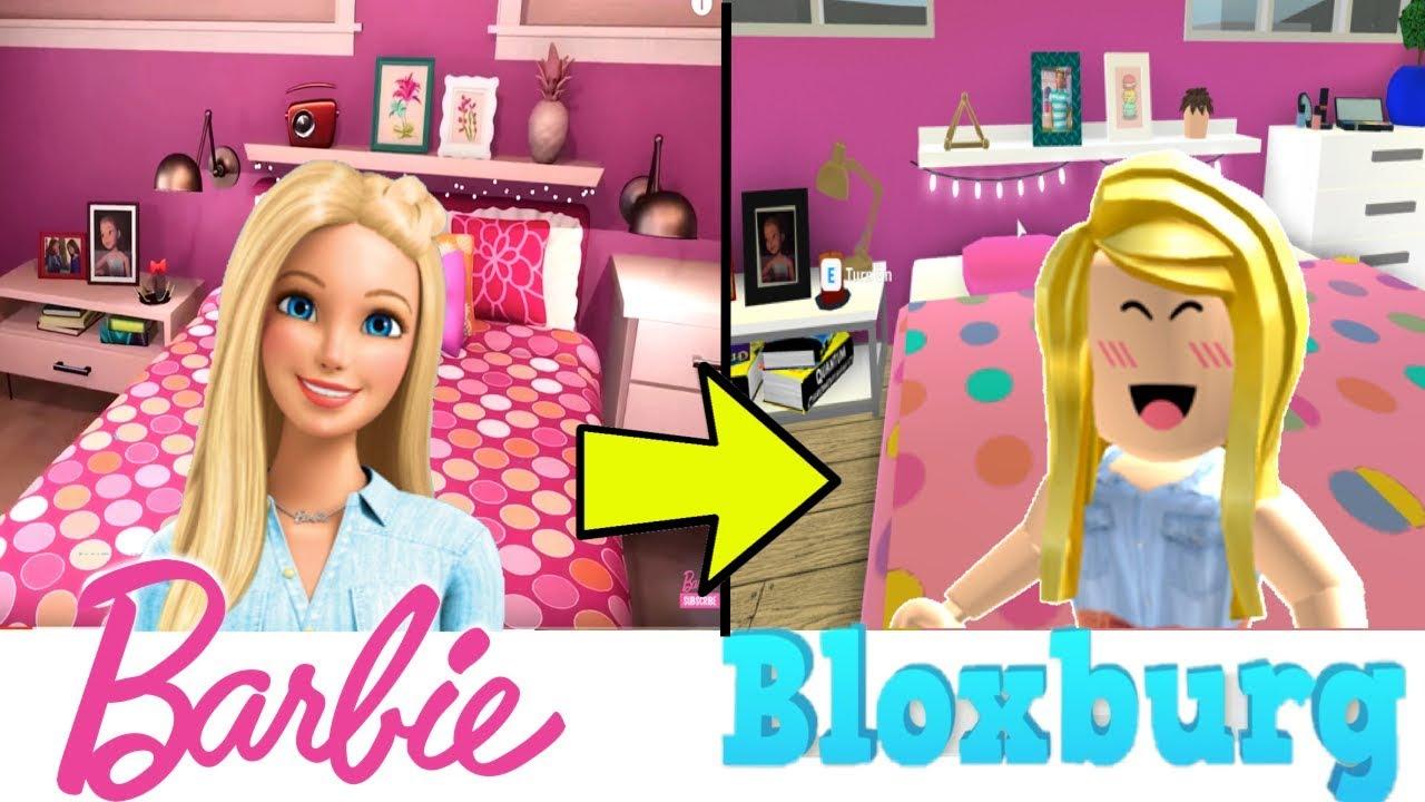 My New Barbie Dreamhouse House Tour In Bloxburg Titi Games Youtube