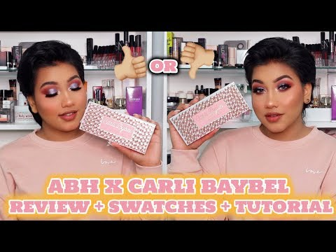 ABH X CARLI BYBEL || Review + swatches + Tutorial || Save your money or not.? thumbnail