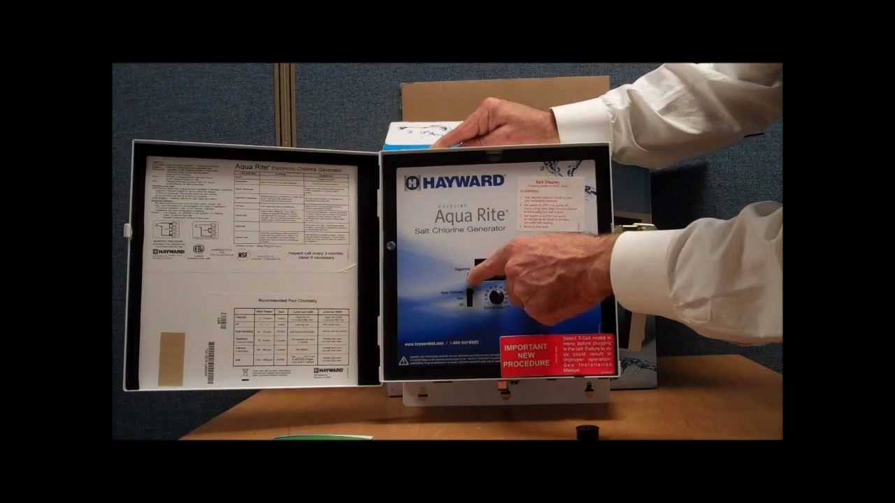 Hayward Goldline Aqua Rite Salt Chlorine Generator Box Tour Video By Wiring Diagram Poolcentercom Youtube