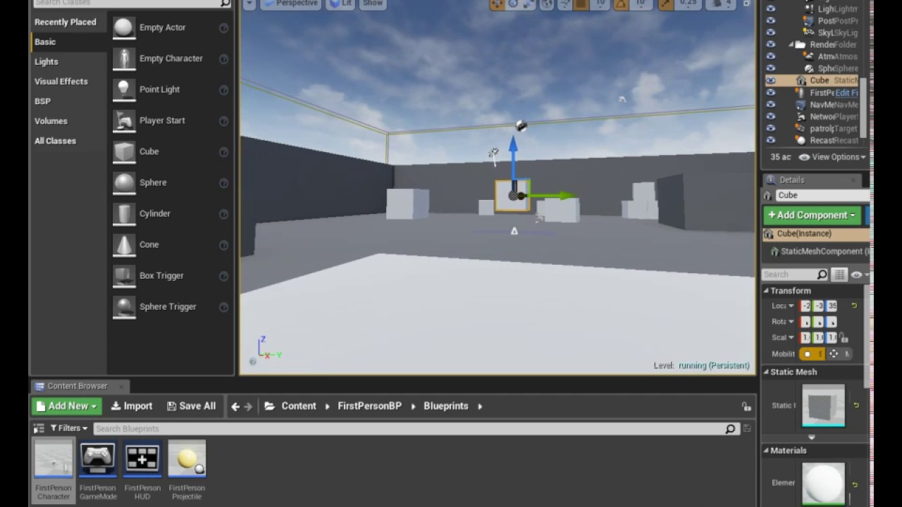 Unreal Engine 4 tutorial #11 Crouch