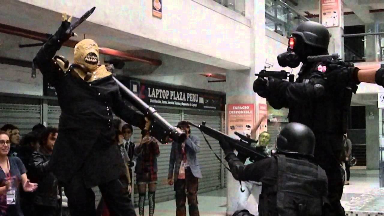 nemesis vs hunk resident evil cosplay youtube