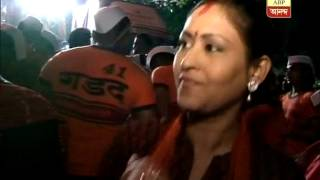 bengali actress dancing to the tune of dhak at Abhijit