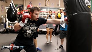 Canelo vs. Smith Video- Canelo Alvarez's COMPLETE boxing workout video