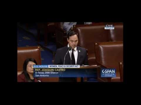 House Floor Speech in Support of Women's Involvement in Peace Negotiations